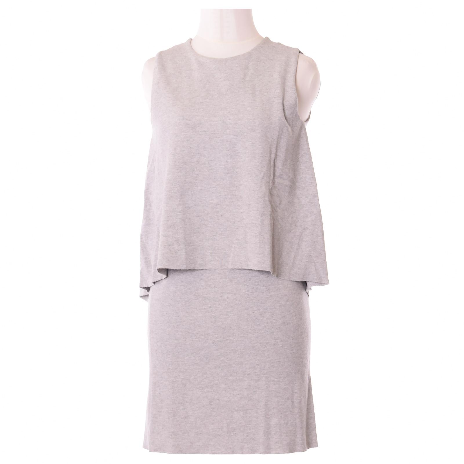 details zu cos damen minikleid kleid mini dress gr.xs (de 34) casual grau,  59327