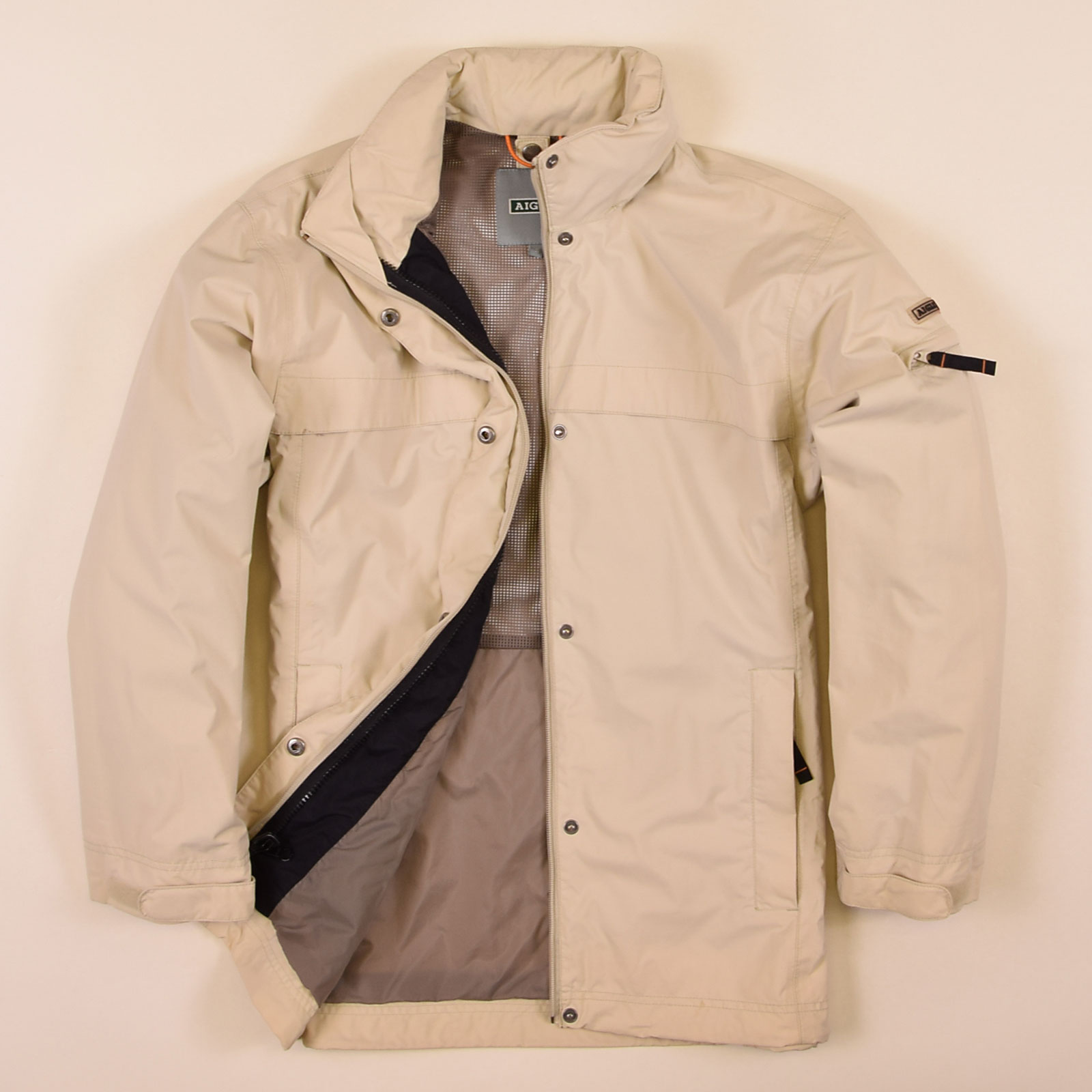 look for 42ec4 d4fa0 Details zu Aigle Herren Jacke Jacket Gr.S Gallinas Thermo Kit Beige 74525